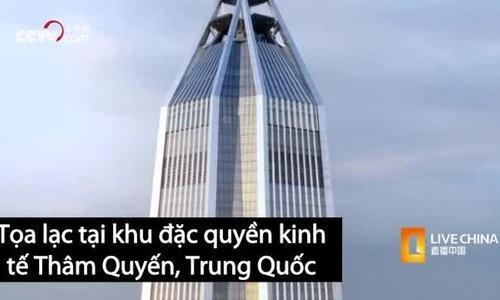 Tòa nhà cao gần 600 m có thể chống ăn mòn ở Trung Quốc