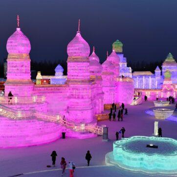 Du lịch Trung Quốc: Lung linh kiệt tác lễ hội băng đăng Cáp Nhĩ Tân