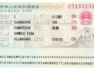 Làm thế nào đọc hiểu thị thực Trung Quốc?